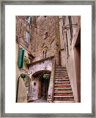 Medieval Borgo In Nettuno Framed Print