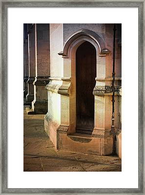 Medieval Building Exterior  Framed Print by Tom Gowanlock