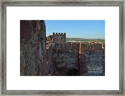 Medieval Castle Walls In Silves Framed Print