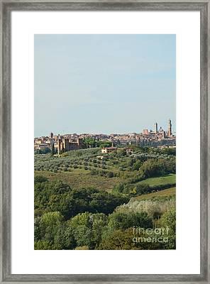 Medieval City Of Siena In Italy Framed Print by DejaVu Designs