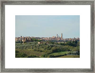 Medieval City Of Siena In Tuscany Framed Print by DejaVu Designs