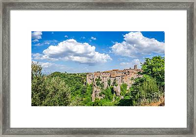 Medieval City Out Of Nature Framed Print by JR Photography