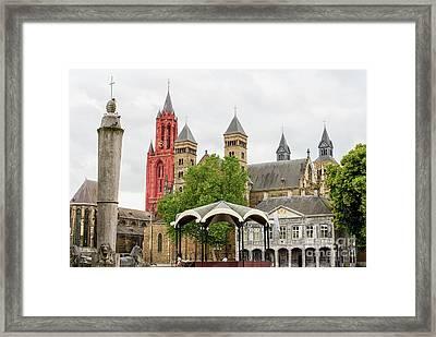 Medieval Cityscape Framed Print