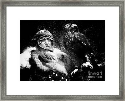 Framed Print featuring the photograph Medieval Fair Barbarian And Golden Eagle by Bob Christopher