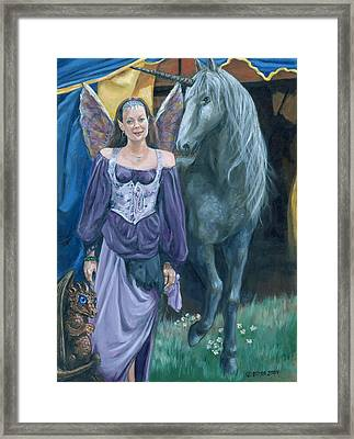 Framed Print featuring the painting Medieval Fantasy by Bryan Bustard
