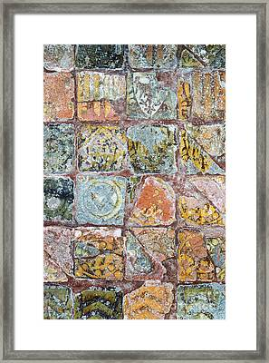 Medieval Floor Tiles Pattern Framed Print by Tim Gainey