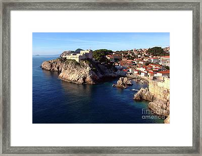 Medieval Fortresses Lovrijenac And Bokar Dubrovnik Framed Print by Jasna Dragun
