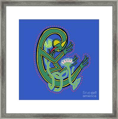 Medieval Frog Letter C Framed Print