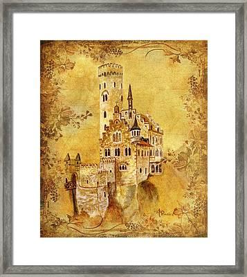 Medieval Golden Castle Framed Print