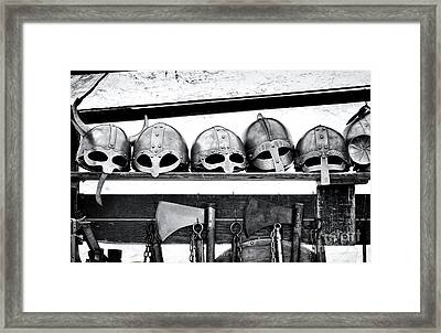 Medieval Helmets Framed Print by Tim Gainey