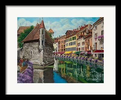 Village In Europe Framed Prints