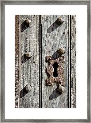 Medieval Keyhole Framed Print by Tom Gowanlock