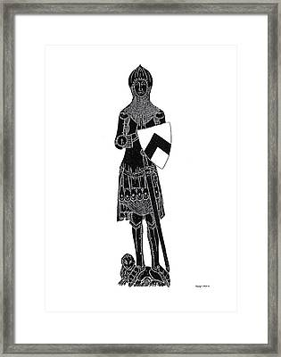 Medieval Knight Brass Rubbing Framed Print