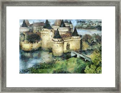 Medieval Knight's Castle Framed Print