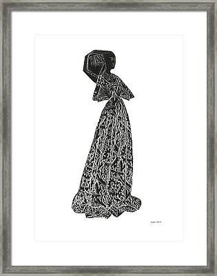 Medieval Lady Brass Rubbing  Framed Print