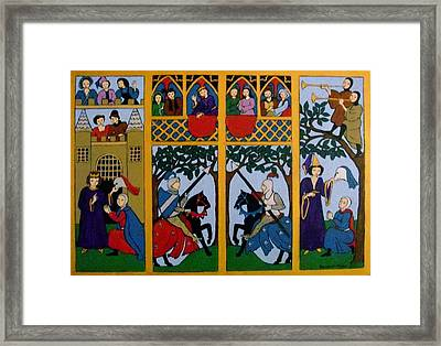 Framed Print featuring the painting Medieval Scene by Stephanie Moore