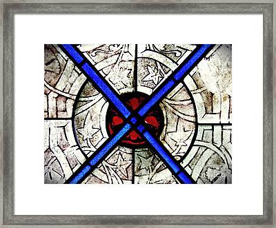 Medieval Stained Glass Abstract 1 Framed Print by Sarah Loft