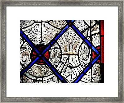 Medieval Stained Glass Abstract 2 Framed Print by Sarah Loft
