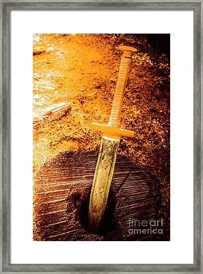 Medieval Training Sword Framed Print