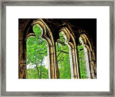 Medieval Triptych Framed Print