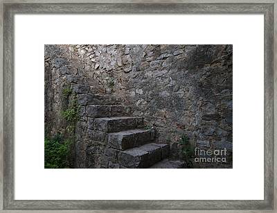 Medieval Wall Staircase Framed Print
