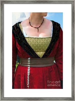 Medieval Costume Framed Print
