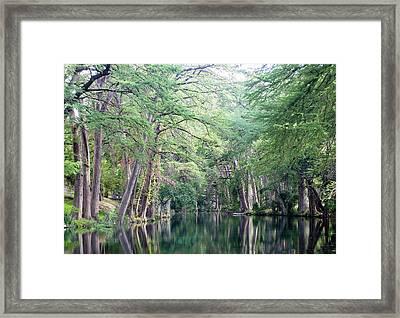 Medina Creek In Summer Framed Print