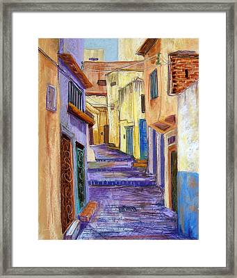 Medina In Tangier Framed Print by Candy Mayer