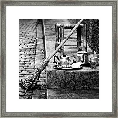 Framed Print featuring the photograph Medina Tea Break by Marion McCristall