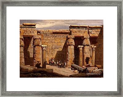 Medinet Habu Temple, Egypt, 1878 Framed Print