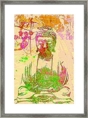 Meditating Buddha  Framed Print by Brian Broadway