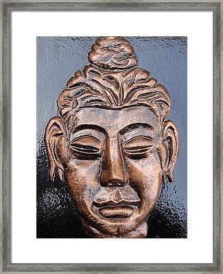 Meditating Buddha Framed Print by Rajesh Chopra