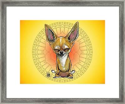 Meditating Chihuahua Framed Print