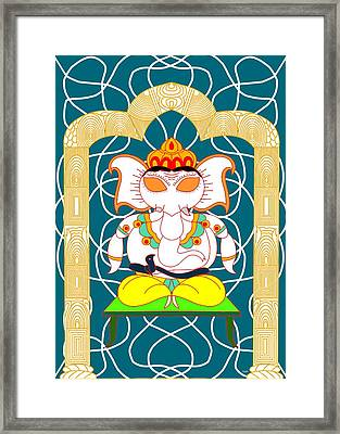 Dhyana Ganapati Framed Print