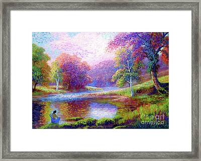 Meditating On The Eternal Now Framed Print by Jane Small