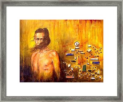Meditation 2 Framed Print by Ixchel Amor