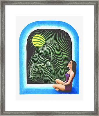 Meditation Framed Print by Belle Perez-de-Tagle