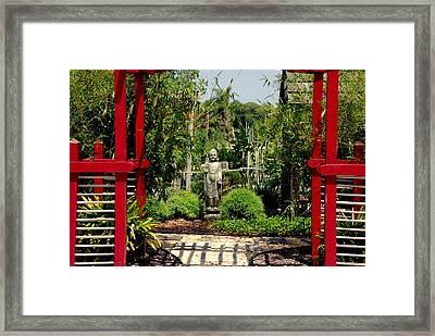 Meditation Garden Framed Print by Susanne Van Hulst