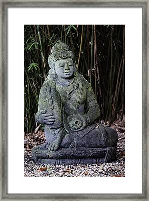 Meditation In The Bamboo Forest Framed Print
