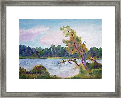 Meditation Lake  Framed Print