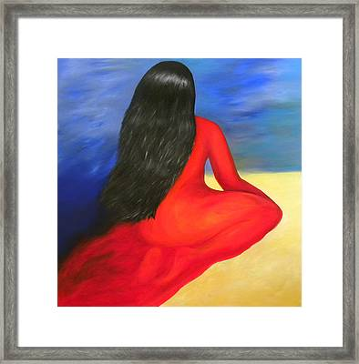 Meditation Moment Framed Print