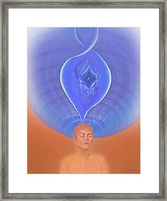Meditation On Full Health Framed Print by Robin Aisha Landsong