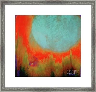 Super Blue Moon Framed Print