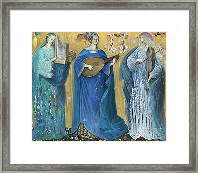 Meditations On The Holy Trinity  After The Music Of Olivier Messiaen, Framed Print by Annael Anelia Pavlova