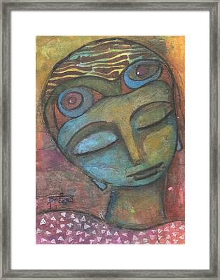 Framed Print featuring the mixed media Meditative Awareness by Prerna Poojara