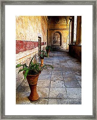 Meditative Space Framed Print by Mexicolors Art Photography