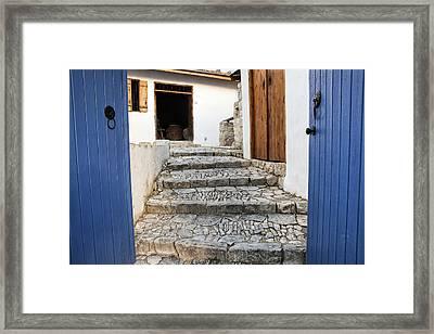 Mediteranean Old House Framed Print