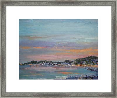Mediterranean At Dusk Nice France Framed Print by Bryan Alexander