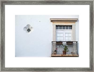 Mediterranean Balcony Framed Print
