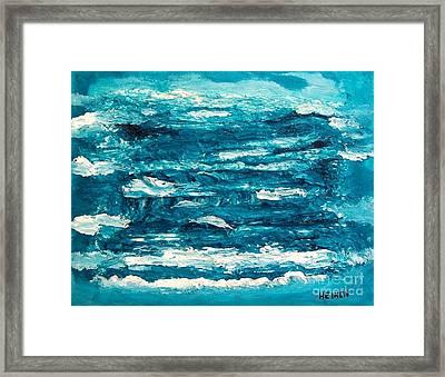 Mediterranean Blue Green Framed Print by Marsha Heiken
